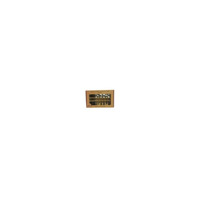 SET 24 CUBIERTOS AC INOX ALICANTE MOD. 054-024-023 (12) - Envío Gratuito