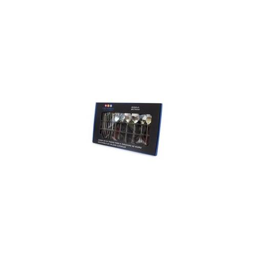 SET 24 CUBIERTOS AC INOX ALBION MOD. 061-024-025 (12) - Envío Gratuito
