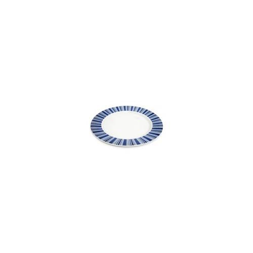 PLATO PANDO TRINCHE 28CM RAYAS AZULES MOD PL1242552824(24)