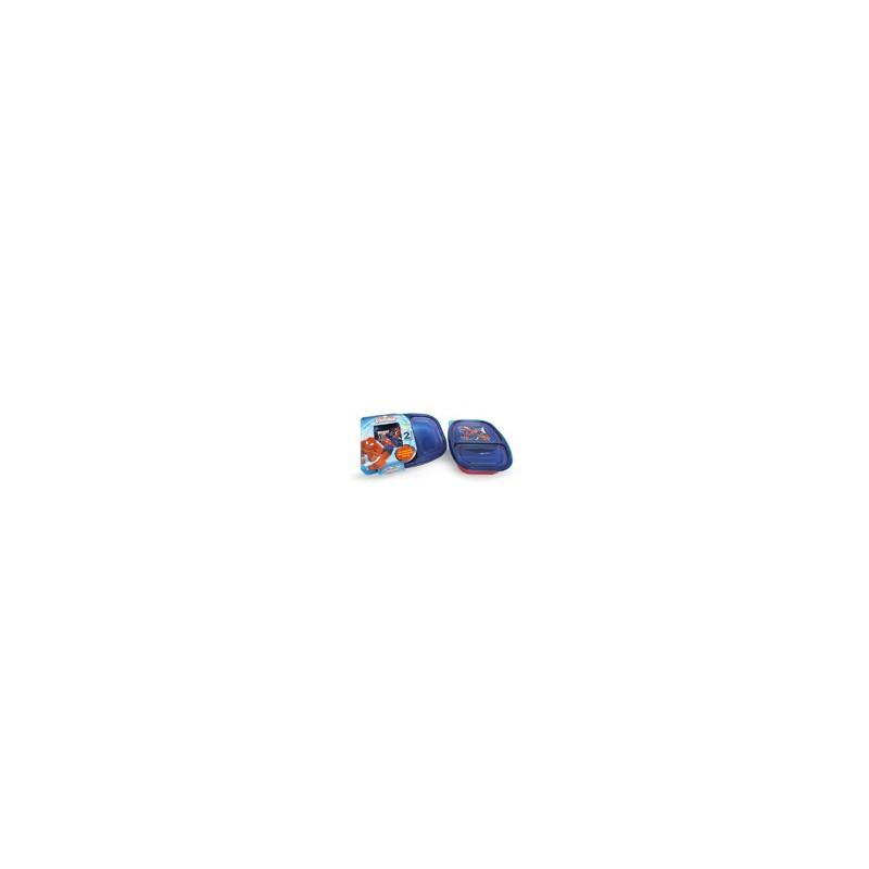 RECIPIENTE 2 DIVISIONES 750 ML. SPIDERMAN MOD. 82132 - Envío Gratuito