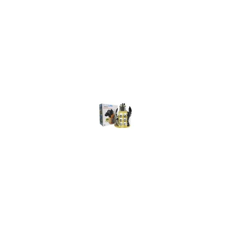 CARRUCEL DE UTENSILIOS NEGRO MOD. PLCKS- 200B - Envío Gratuito