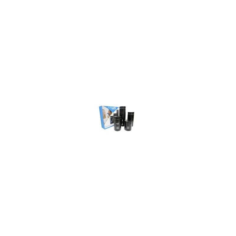 SET 4 CONTENEDORES AI./VIDRIO NEGRO MOD. RCA-054B - Envío Gratuito