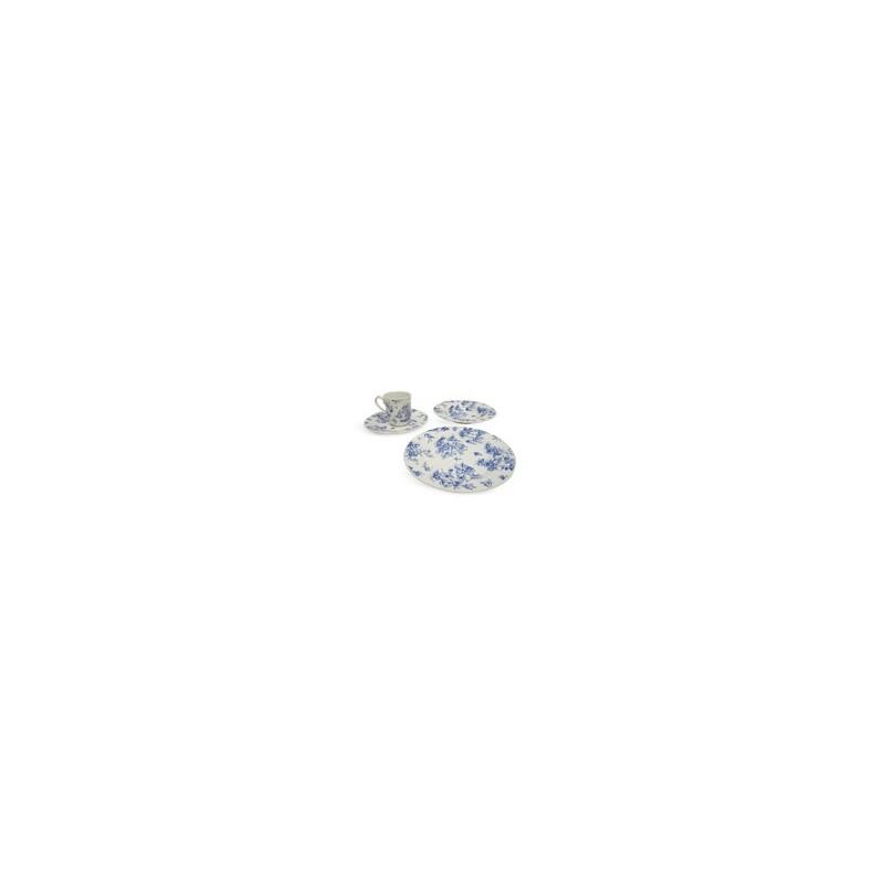 VAJILLA 16 PZAS TOILE BLUE CHELSEA MOD. VC168A040216 - Envío Gratuito