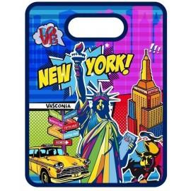 TABLA NY POP ART . 20X25CM.