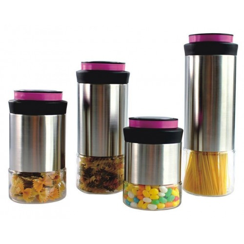 CANISTER INOX MOROCAN 4 PIEZAS